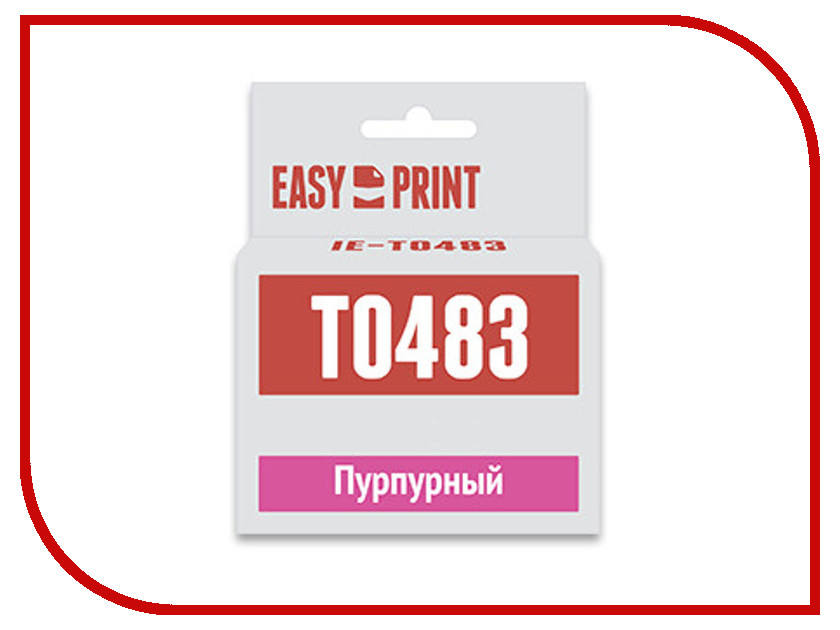 все цены на Картридж EasyPrint IE-T0483 Purple для Epson Stylus Photo R200/300/RX500/600 с чипом онлайн