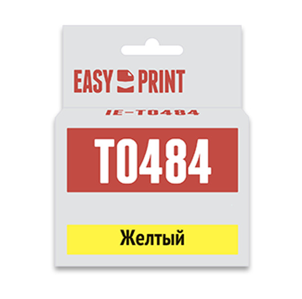 Картридж EasyPrint IE-T0484 Yellow для Epson Stylus Photo R200/300/RX500/600 с чипом