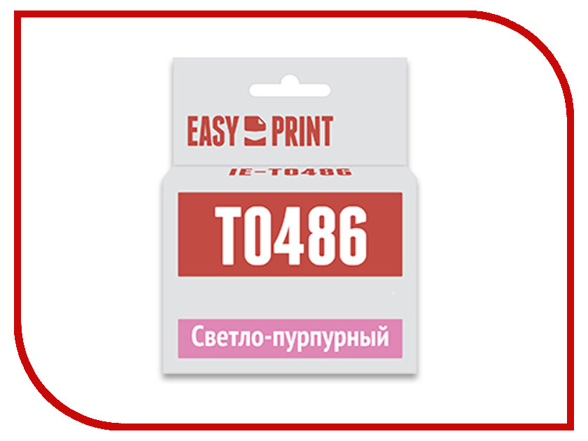 Картридж EasyPrint IE-T0486 Light Purple для Epson Stylus Photo R200/R300/RX500/RX600 с чипом