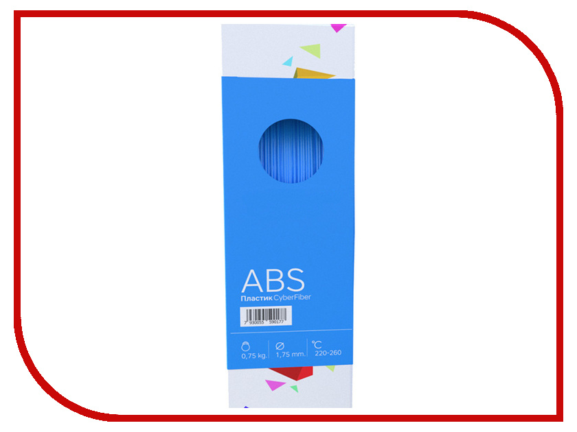 Аксессуар CyberFiber ABS-пластик 1.75mm Blue 750гр аксессуар cyberfiber abs пластик 1 75mm red 750гр