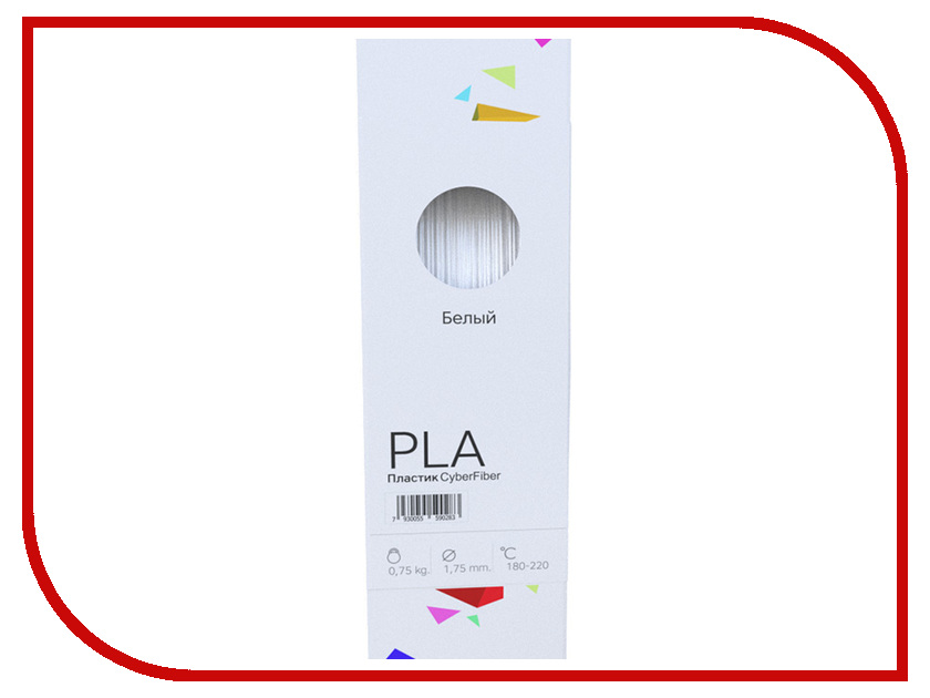 Аксессуар CyberFiber PLA-пластик 1.75mm White 750гр<br>
