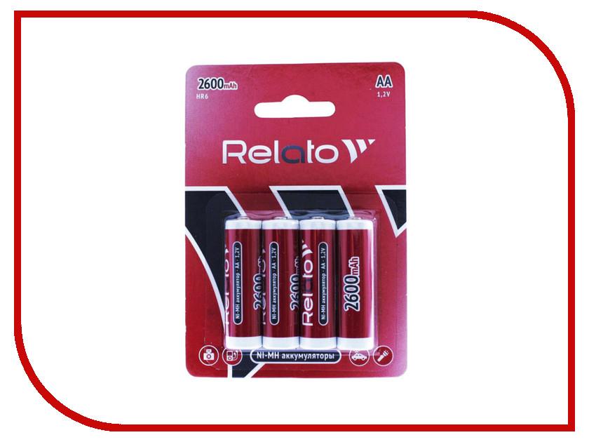 Аккумулятор AA - Relato HR6 AA2600 Ni-MH 2600 mAh (4 штуки) kodak hr6 4bl 1700mah [kaahr 4] 80 640