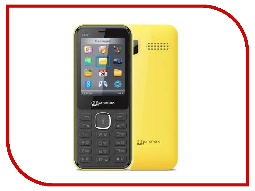 Сотовый телефон Micromax X249+ Yellow