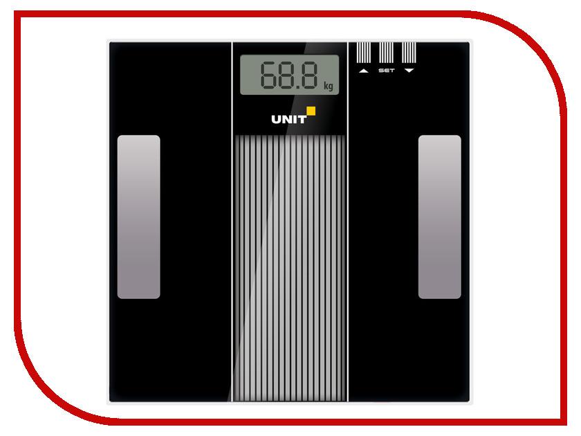 Весы напольные UNIT UBS-2210 Black sayin sy 908 mini ipx4 shower radio w fm am deep blue white