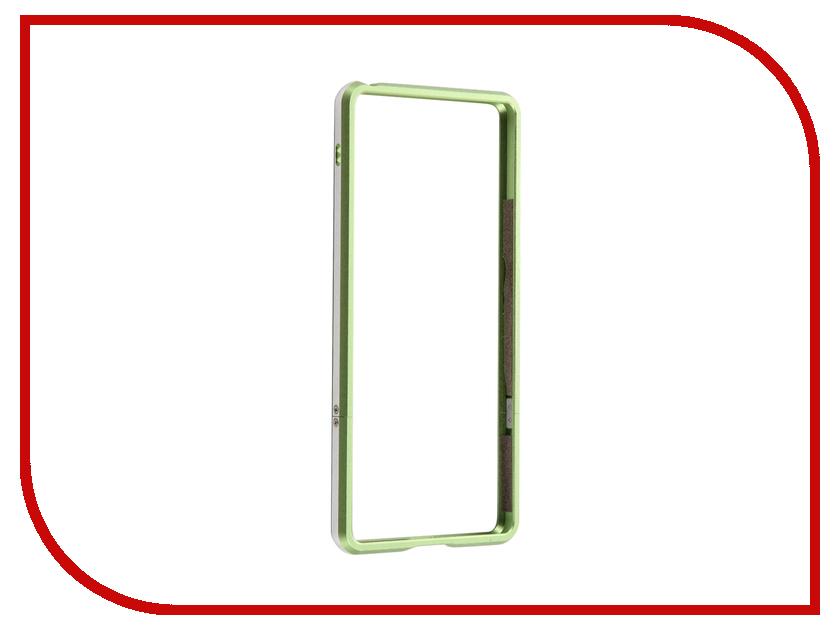 Аксессуар Чехол Sony Xperia XA BROSCO Green XA-BMP-GREEN аксессуар bbb bmp 47 hoseroad telescopic 190 mm