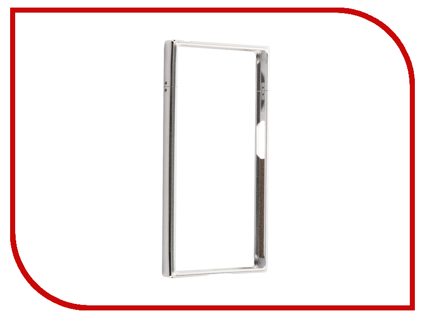 Аксессуар Чехол Sony Xperia X Compact BROSCO Silver XC-BMP-SILVER аксессуар чехол sony xperia x compact soft touch brosco white xc softtouch white