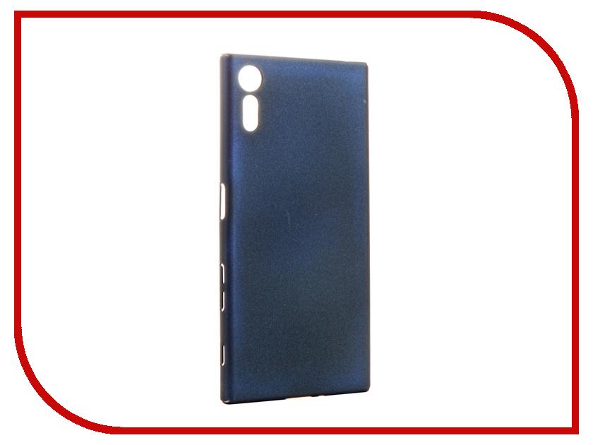 Аксессуар Чехол Sony Xperia XZ BROSCO Blue XZ-4SIDE-SOFTTOUCH-FORESTBLUE msd6180kr xz