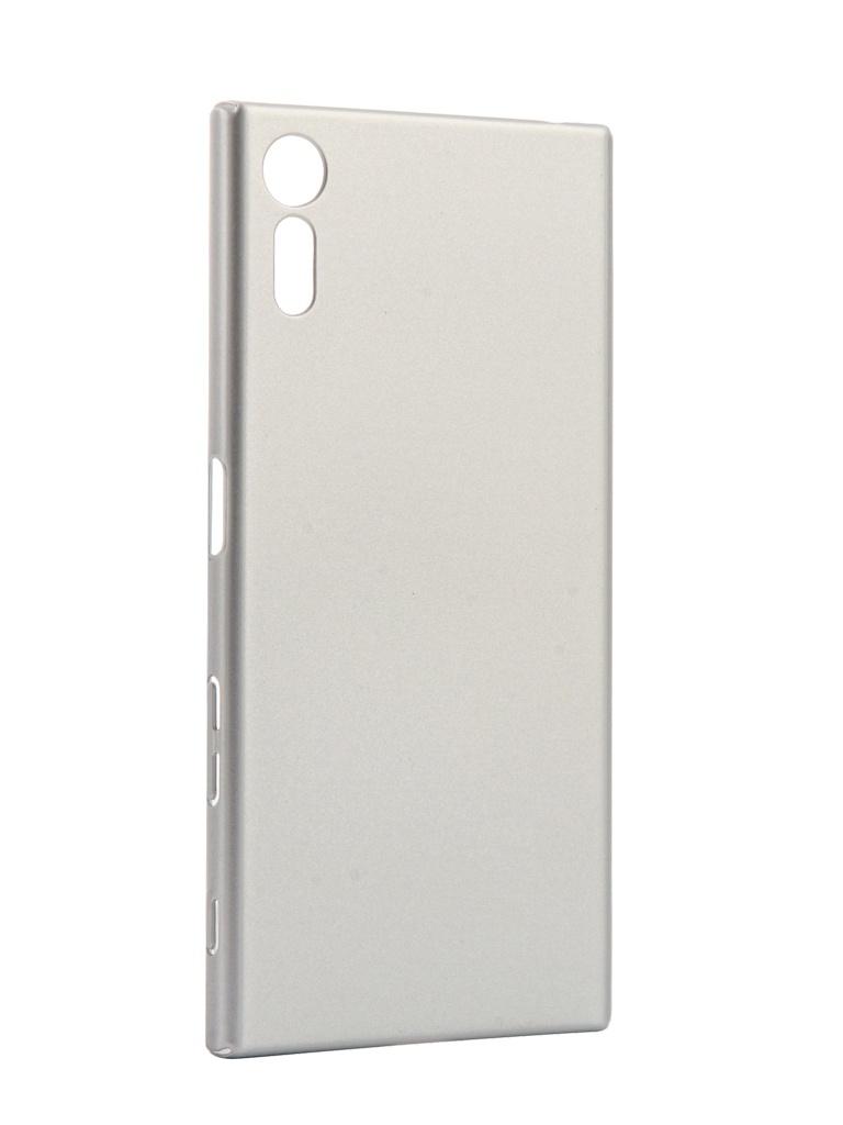 Аксессуар Чехол для Sony Xperia XZ Brosco Silver XZ-4SIDE-SOFTTOUCH-SILVER аксессуар чехол накладка sony xperia m4 aqua brosco пластиковый silver m4a back 02 silver