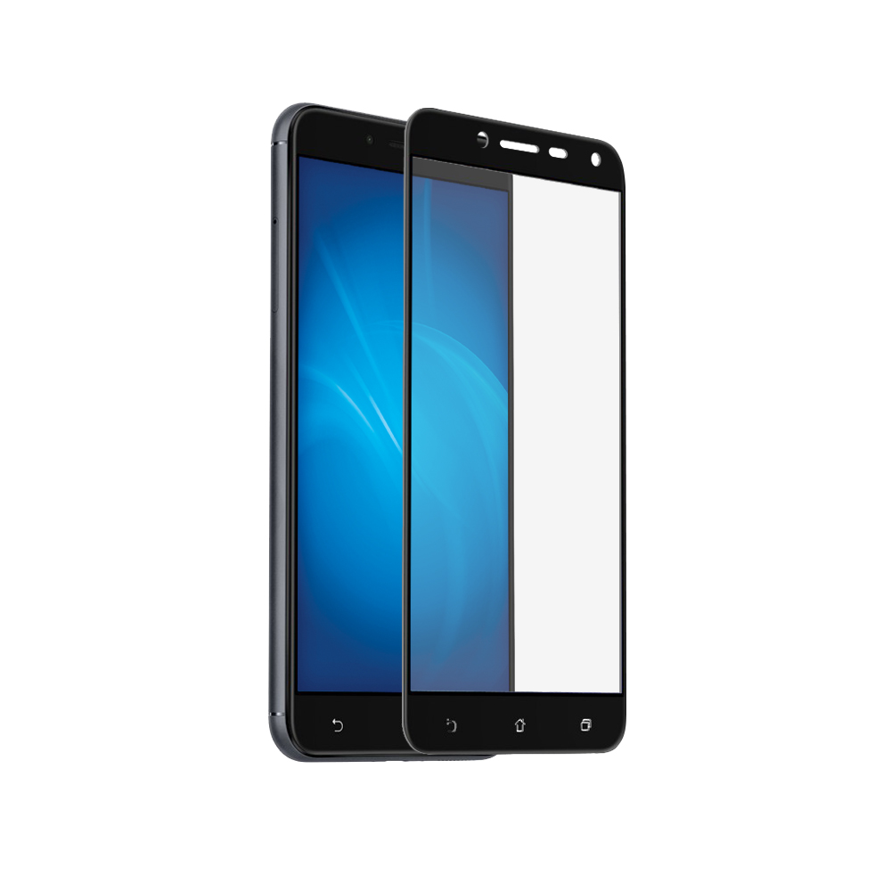 Аксессуар Закаленное стекло DF для ASUS ZenFone 3 Max ZC553KL Full Screen aColor-04 Black for asus zenfone 6 a600cg new full black lcd display panel screen monitor digitizer touch screen glass assembly replacement