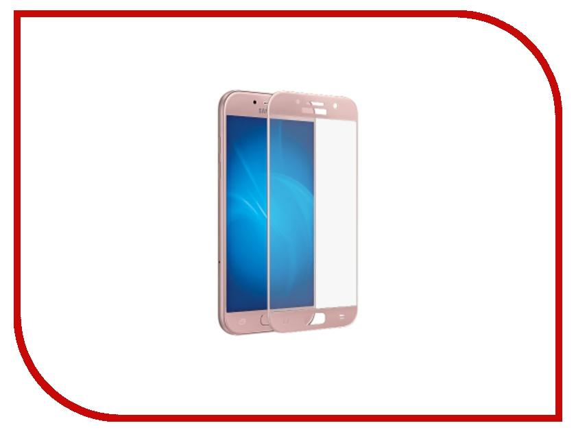 Аксессуар Закаленное стекло Samsung Galaxy A3 (2017) DF Fullscreen sColor-15 Pink