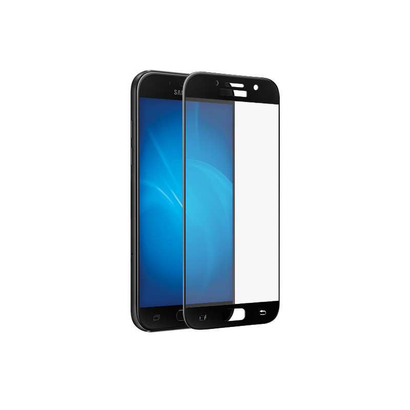 Аксессуар Защитное стекло Samsung Galaxy A3 2017 Brosco Full Screen Black SS-A3(7)-3D-GLASS-BLACK защитное стекло interstep full screen cover 0 3мм sams a3 2017 a320 gold