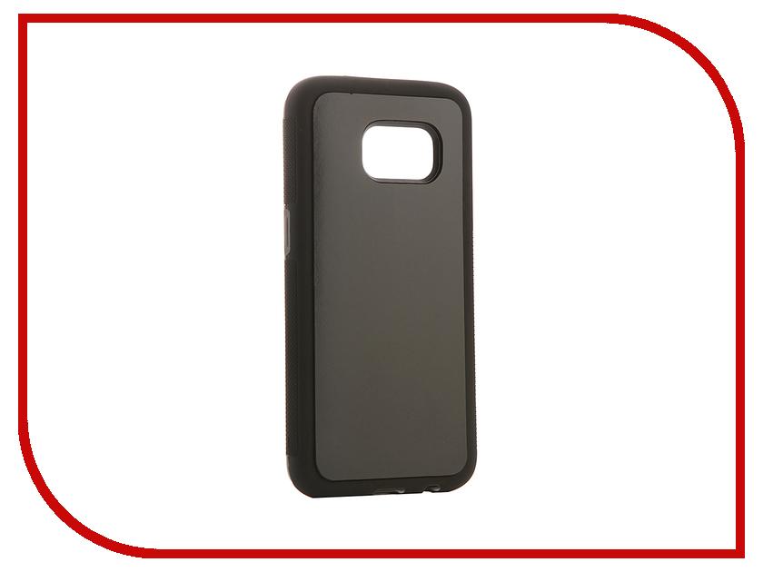 Аксессуар Чехол Samsung Galaxy S7 BROSCO Black SS-S7-STICKY-BLACK elephone s7 4g phablet купить в москве