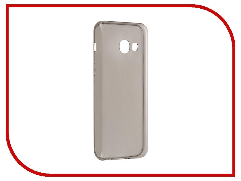 Аксессуар Чехол Samsung Galaxy A3 2017 BROSCO Silicone Black SS-A3(7)-TPU-BLACK аксессуар чехол samsung galaxy a3 2017 cojess tpu 0 3mm transparent