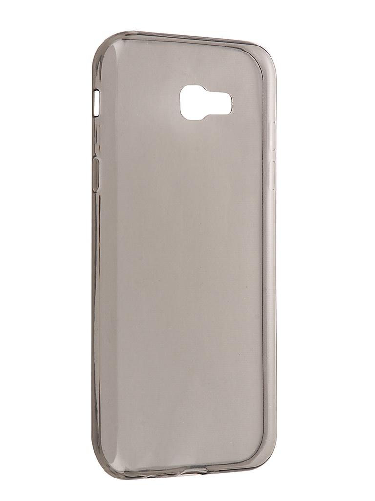 Аксессуар Чехол Brosco для Samsung Galaxy A7 2017 Silicone Black SS-A7(7)-TPU-BLACK аксессуар чехол samsung galaxy a3 2016 cojess silicone tpu 0 3mm grey глянцевый