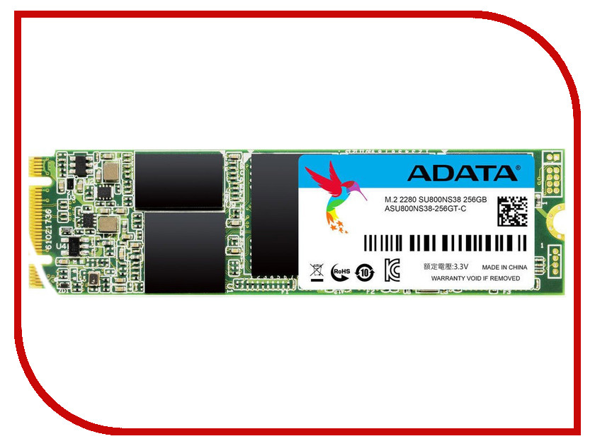 Жесткий диск 256Gb - A-Data Ultimate SU800 M.2 2280 ASU800NS38-256GT-C жесткий диск 128gb a data ultimate su800 m 2 2280 asu800ns38 128gt c