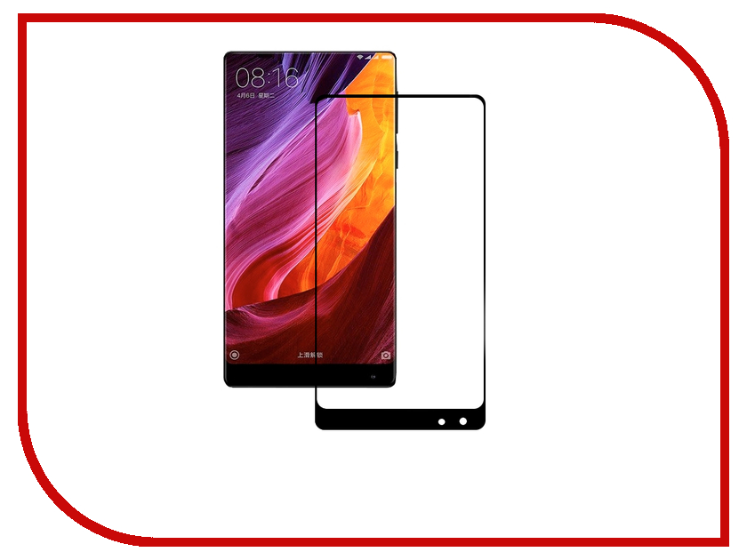 Аксессуар Защитное стекло Xiaomi Mi Mix BROSCO Full Screen Black XM-MiMIX-3D-GLASS-BLACK аксессуар чехол xiaomi mi6 brosco silicone black xm mi6 tpu black
