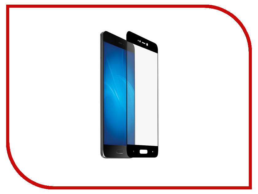 Аксессуар Защитное стекло Xiaomi Mi5S BROSCO Full Screen Black XM-Mi5S-GLASS-BLACK аксессуар чехол xiaomi redmi mi 5s plus brosco silicone black xm mi5sp tpu black