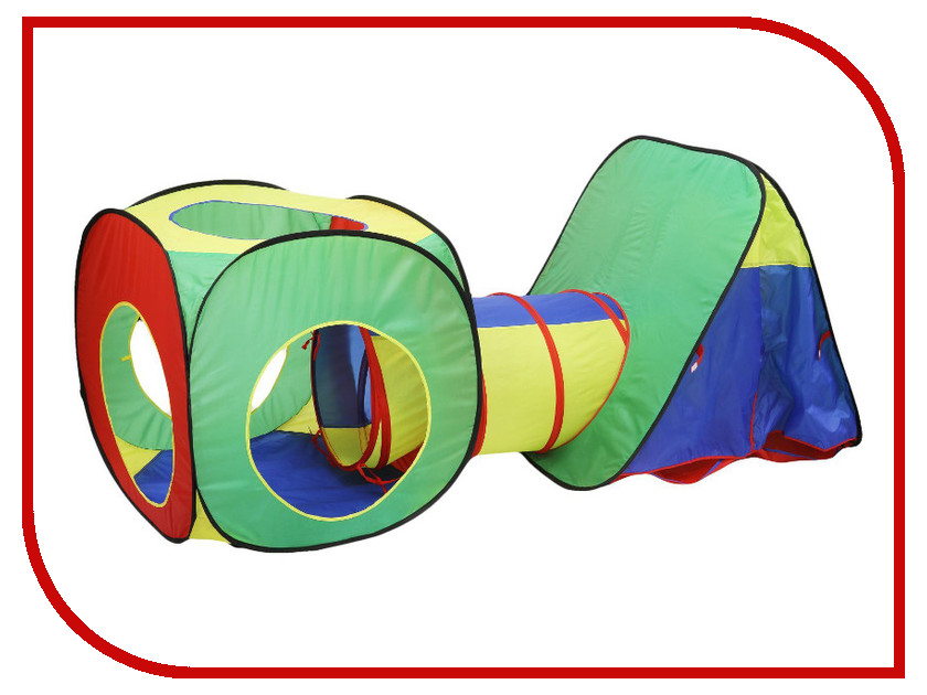 Игрушка для активного отдыха Палатка СИМА-ЛЕНД Геометрические фигуры с туннелем 678883