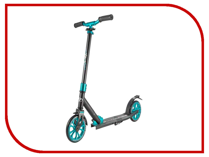 Самокат Tech Team 180 Jogger Black-Light Blue самокат tech team 145 jogger black light blue
