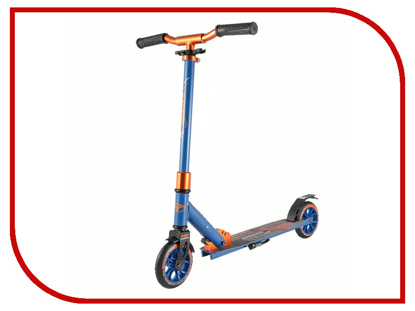 Самокат Tech Team 145 Jogger Blue-Orange самокат tech team 145 jogger black light blue
