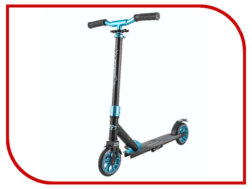 Самокат Tech Team 145 Jogger Black-Light Blue самокат tech team 145 jogger black light blue