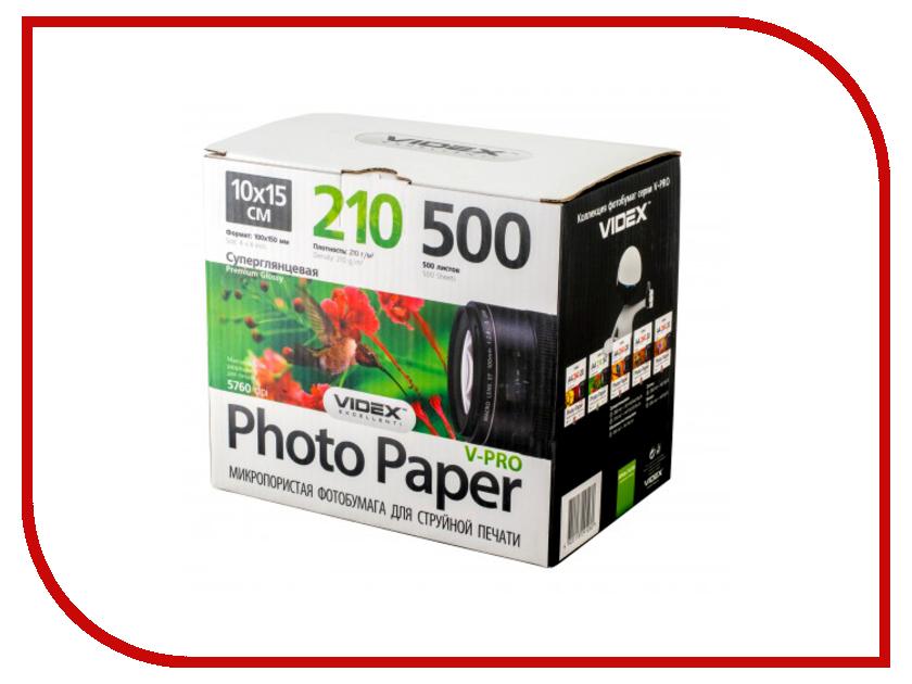 Фотобумага Videx MPHA6-210/500 A6 210g/m2 микропористая суперглянцевая 100 листов<br>