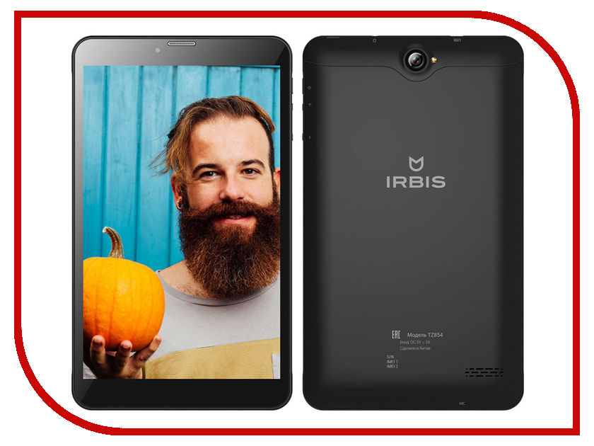 Планшет Irbis TZ854 Black (SC7731 1.33 GHz/1024Mb/8Gb/3G/Wi-Fi/Cam/8.0/1280x800/Android)