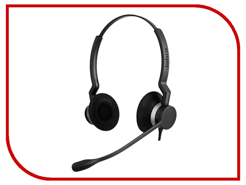 Гарнитура Jabra BIZ 2300 DUO QD 2309-820-104 bluetooth гарнитура jabra motion uc ms 6630 900 301 серый 6630 900 301