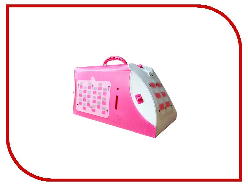 Переноска UP 46x26x26cm Pink 4620 для кошек и собак