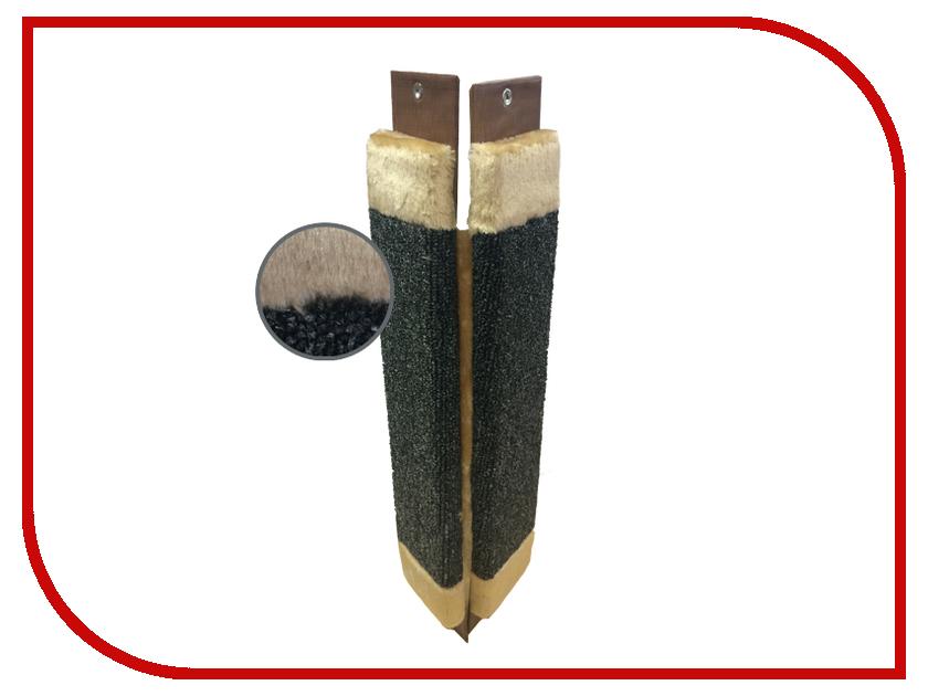 Когтеточка Неженка Ковровая угловая с мехом 61x24cm 6860