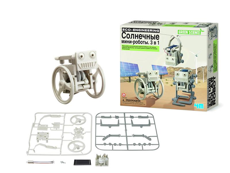 все цены на Конструктор 4M Солнечные мини роботы 3 в 1 00-03377