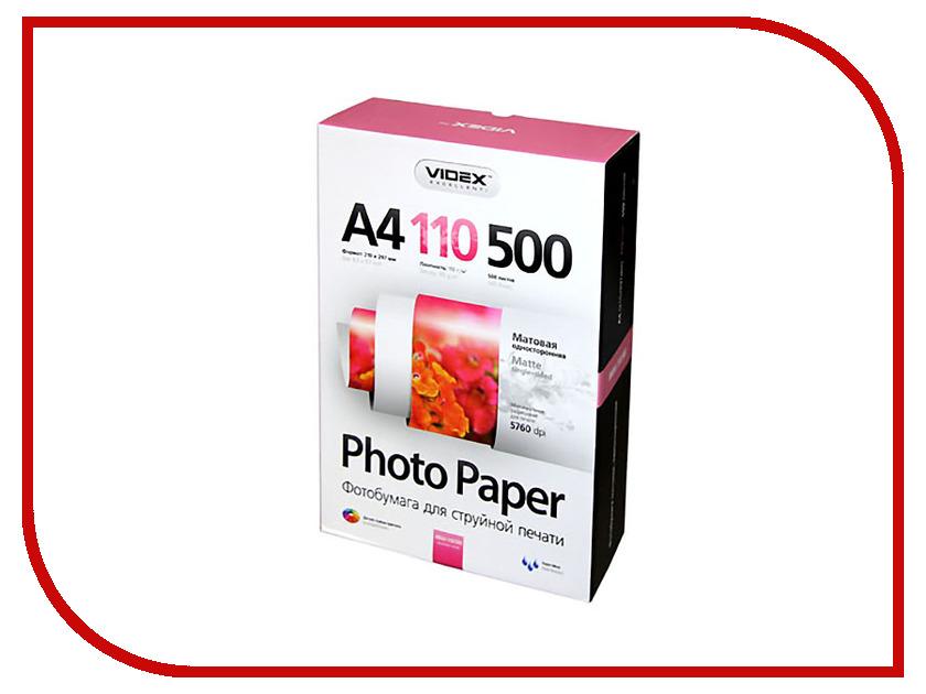 Фотобумага Videx MKA4-110/500 A4 110g/m2 матовая 500 листов