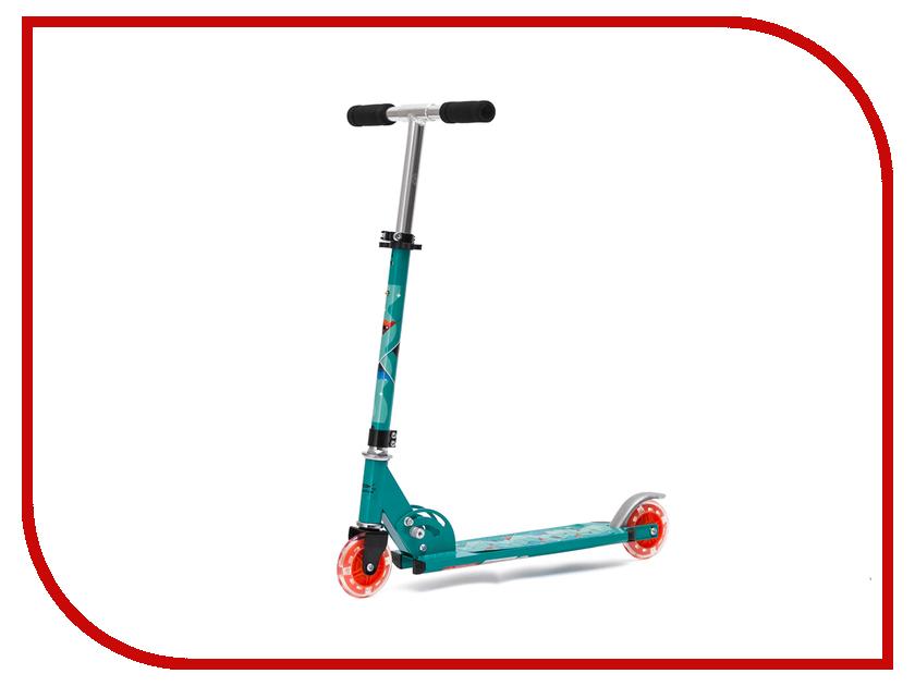 Самокат X-Match Cute Turquoise 64988 самокат трехколёсный x match скутер голубой 125 мм pvc светящ 100% легкосплавн 64459