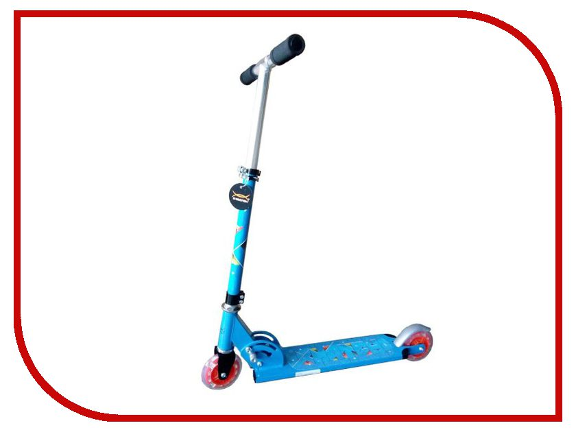 Самокат X-Match Cute Light Blue 64989 самокат трехколёсный x match скутер голубой 125 мм pvc светящ 100% легкосплавн 64459