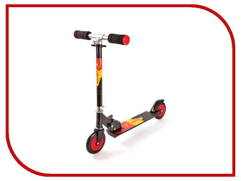 Самокат X-Match Rush Red 64992 самокат трехколёсный x match скутер голубой 125 мм pvc светящ 100% легкосплавн 64459