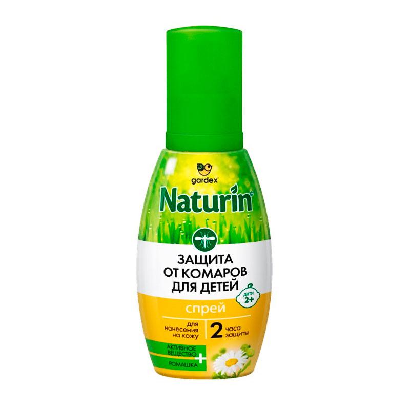 Средство защиты от комаров Gardex Naturin спрей для детей с 2 лет 75ml