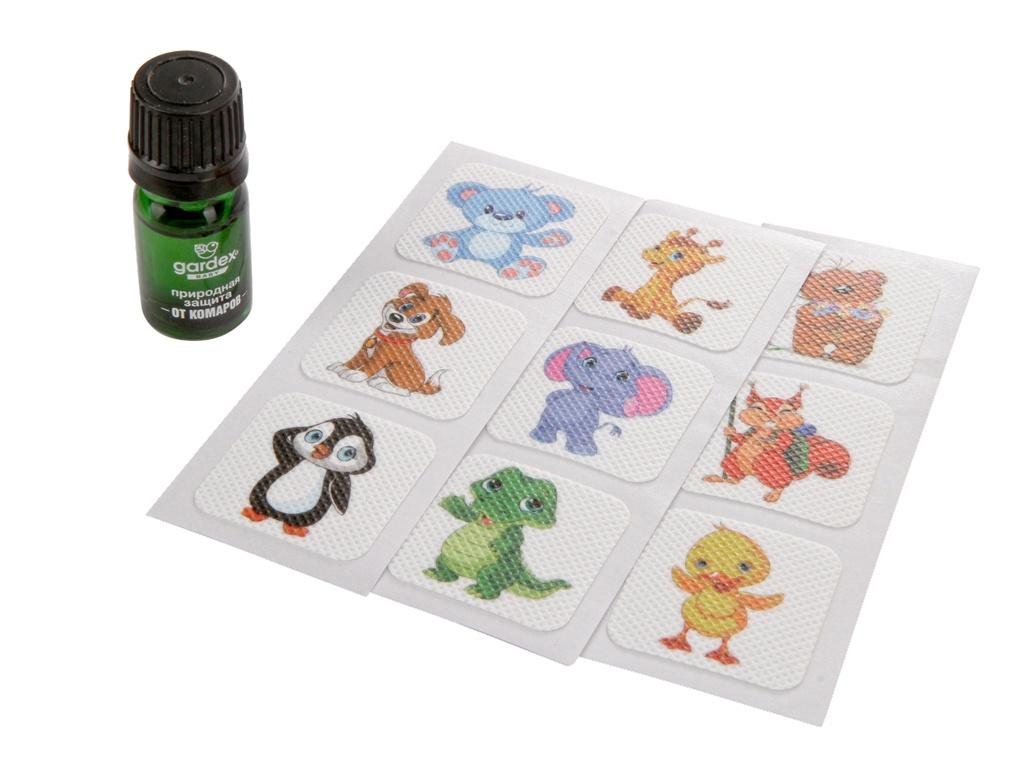 Средство защиты от комаров Gardex Baby экстракт и наклейки