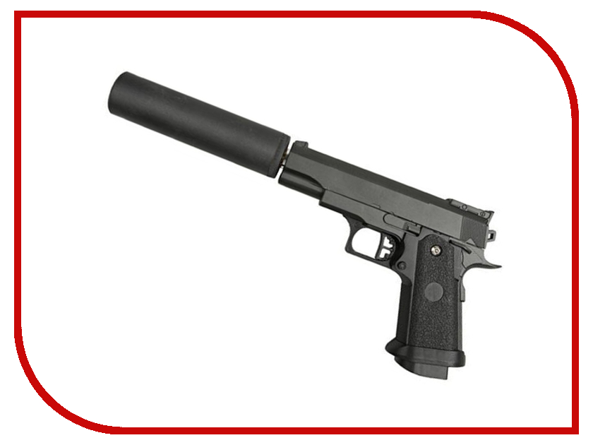 Страйкбольный пистолет Galaxy G.10A Colt 1911 PD mini с глушителем slb 10a samsung