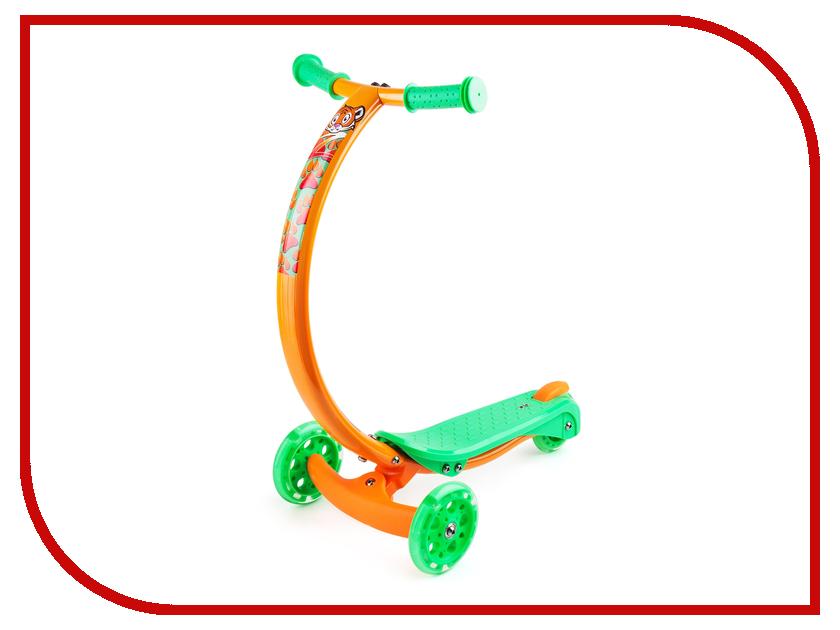 Самокат Zycom Zipster тигренок со светящимися колесами