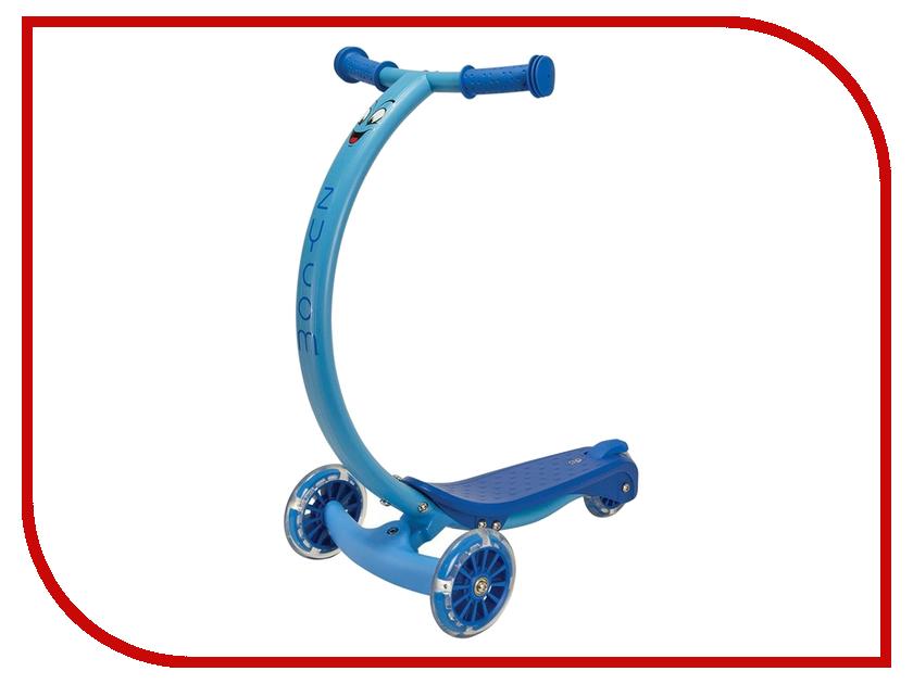 Самокат Zycom Zipster Blue со светящимися колесами zycom беговел детский zbike цвет белый синий