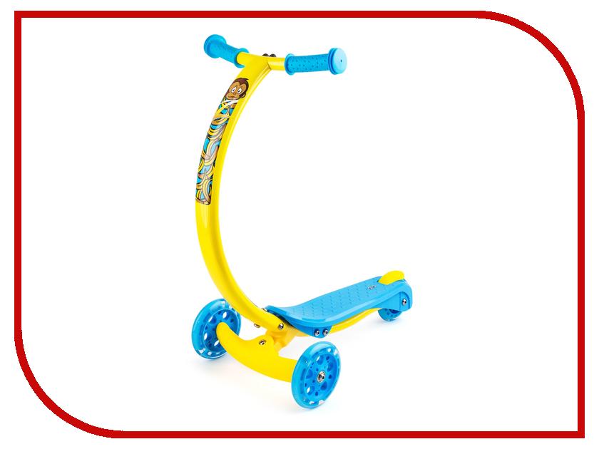 Самокат Zycom Zipster Обезьянка со светящимися колесами самокат zycom zipster blue со светящимися колесами