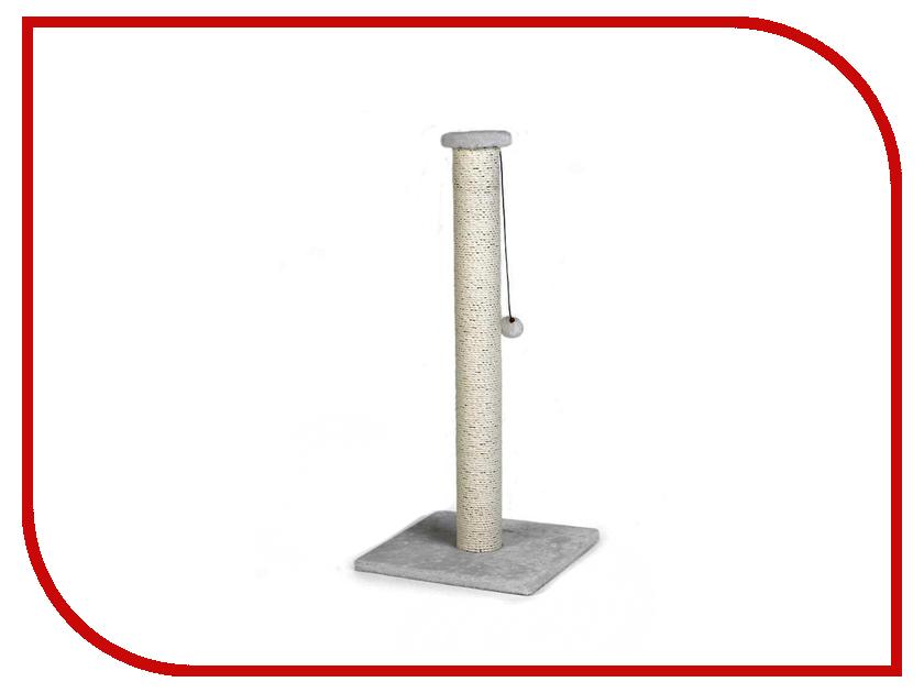 Когтеточка Beeztees Serpa с помпоном 40x40x90cm Grey 408838 комплекс для кошек угловой с полками лестницей и канатом beeztees 405770