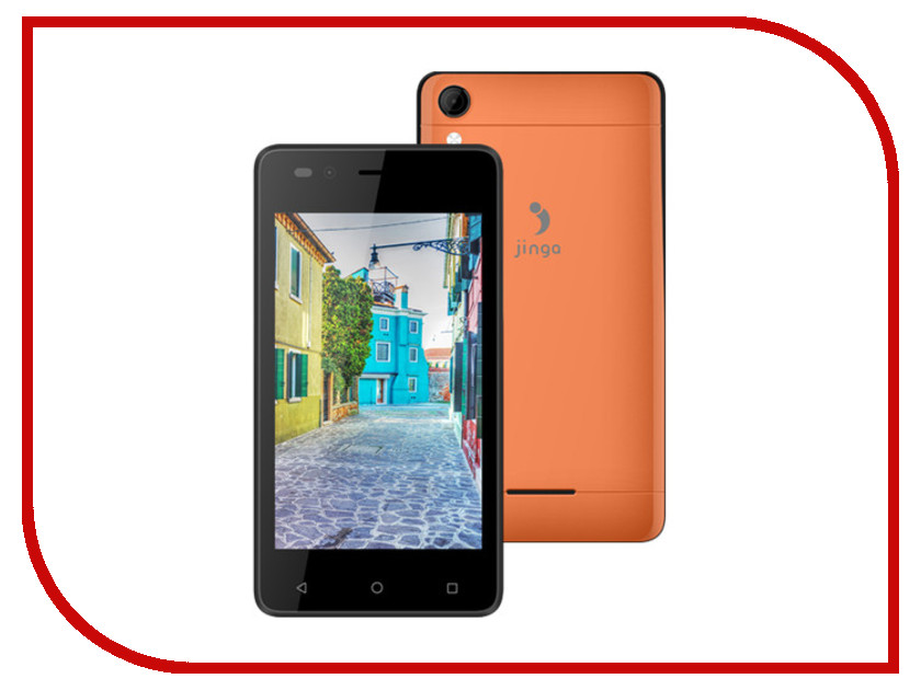 Сотовый телефон Jinga A400 Orange<br>