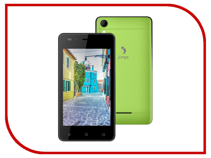 Сотовый телефон Jinga A400 Green