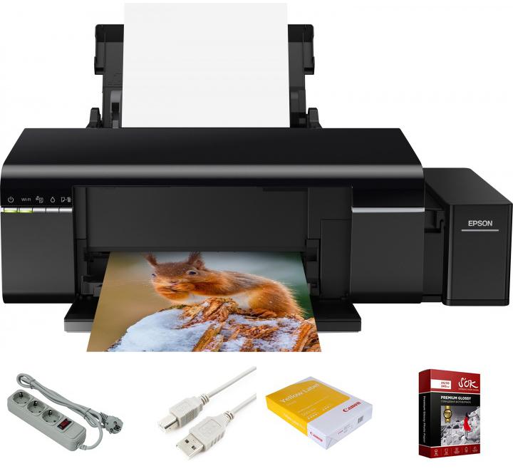 Принтер Epson L805 Выгодный набор + серт. 200Р!!! принтер epson l805 c11ce86403