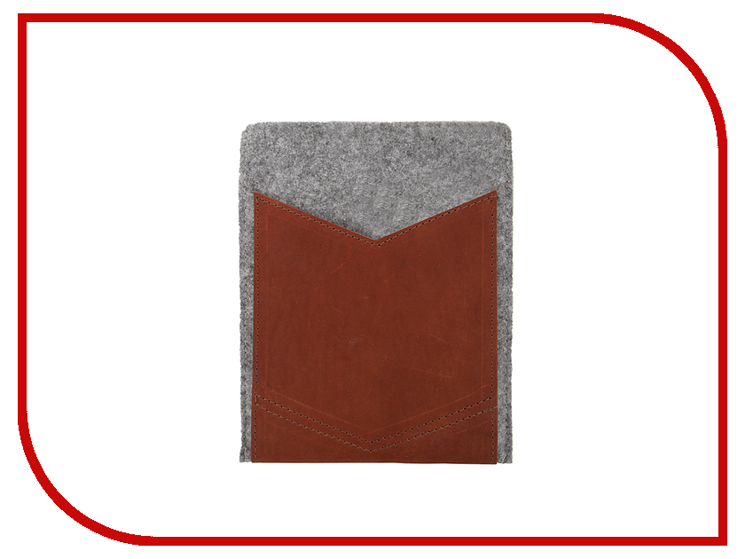 Аксессуар Чехол 8-inch IQ Format с кожаным карманом Grey-Brown