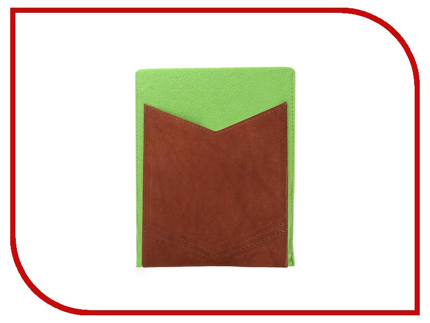 Аксессуар Чехол 8-inch IQ Format с кожаным карманом Green-Brown гаджет iq format чехол для очков на липучке green
