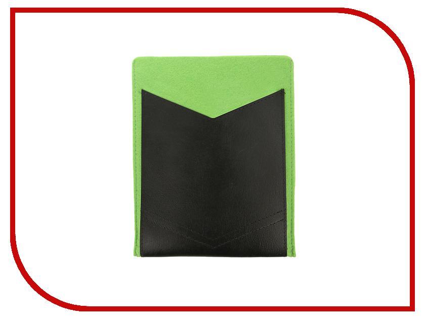 Аксессуар Чехол 8-inch IQ Format с кожаным карманом Green-Black гаджет iq format чехол для очков на липучке green