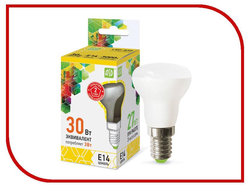 Лампочка ASD LED-R39-standard 3W 230V E14 3000K 270Lm 4690612006673 лампочка asd led a60 standard 20w 4000k 160 260v e27 4690612004204