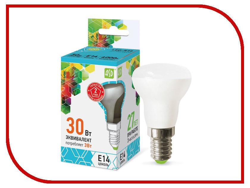 Лампочка ASD LED-R39-standard 3W 230V E14 4000K 270Lm 4690612006680